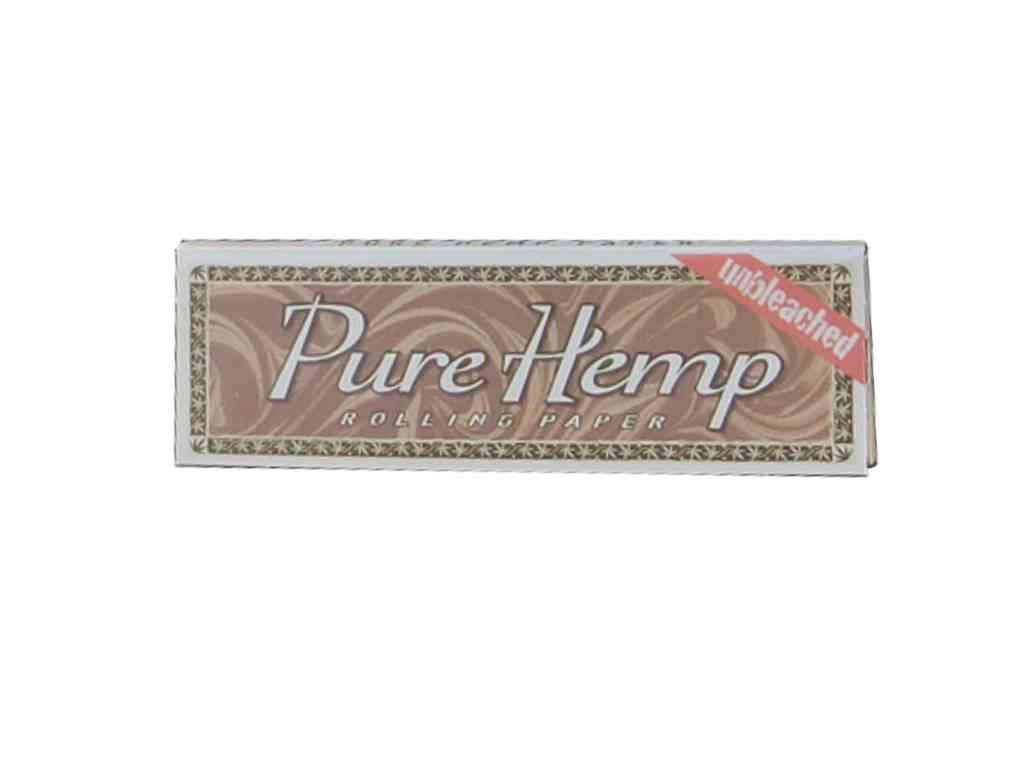 769 - Χαρτάκι Pure Hemp μικρό Unbleached ακατέργαστο 60 φύλλα