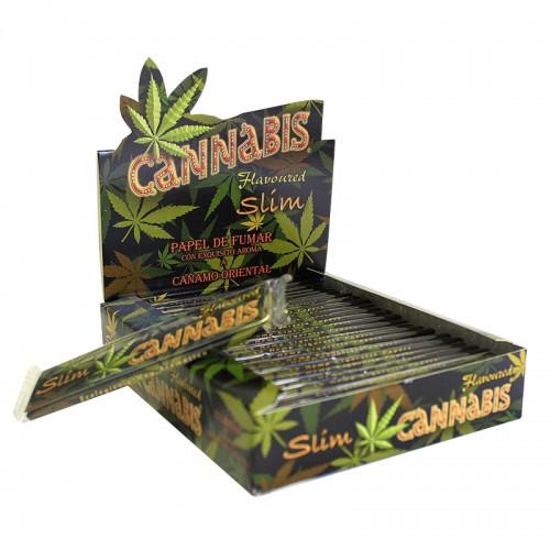 772 - Xαρτάκι Cannabies flavoured KIng size slim, κουτί 25τεμ, €1,14 το χαρτ
