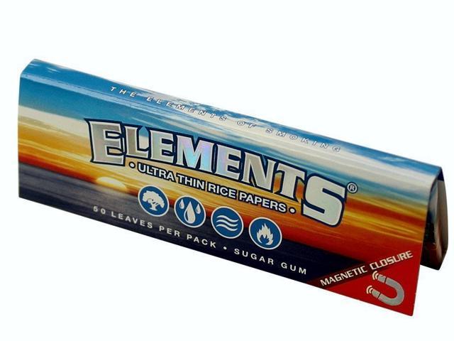 Χαρτάκι Elements rice paper ultra thin 1 1/4, μεσαίο με μαγνήτη, 50 φύλλα