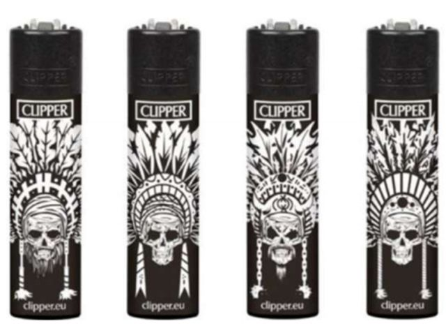 Clipper 104352065 INDIAN SKULLS Large αναπτήρας