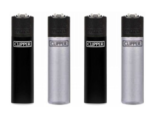 CLIPPER 104305535 MICRO BLACK SILVER METAL SMALL αναπτήρας