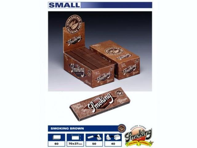 Χαρτάκια Smoking Brown unbleched κουτί 50τεμ 60φύλλα