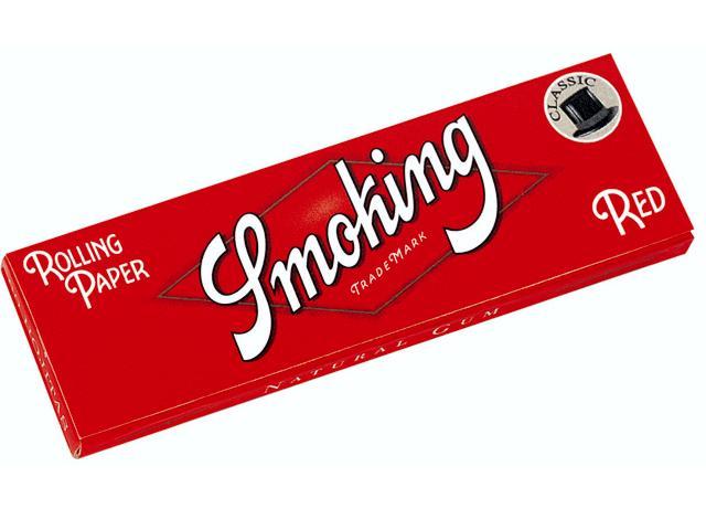 819 - Χαρτάκι Smoking RED μικρό κόκκινο 60 φύλλα