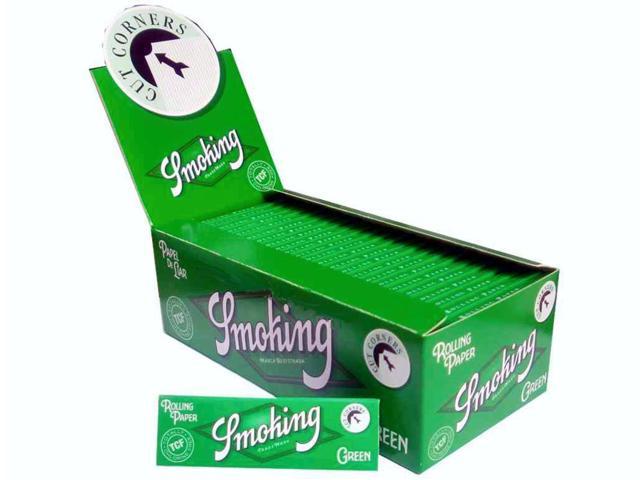 Χαρτάκια Smoking GREEN Corners cut πράσινο κουτί 50 τεμαχίων 60 φύλλα (με τιμή 0,20 το τσιγαρόχαρτο)