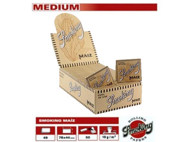 Χαρτάκια Smoking Maiz καλαμπόκι 1 1/4 μεσαίο κουτί 50 τεμαχίων