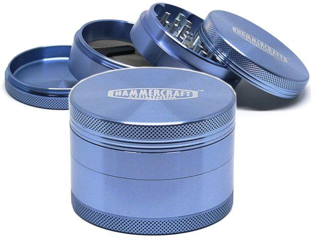 Τρίφτης καπνού HAMMERCRAFT AL 63mm 4 Parts ΑΛΟΥΜΙΝΙΟ 12689 BLUE