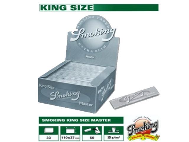 Χαρτάκι Smoking MASTER ασημί king size κουτί 50τεμ 33φύλλα