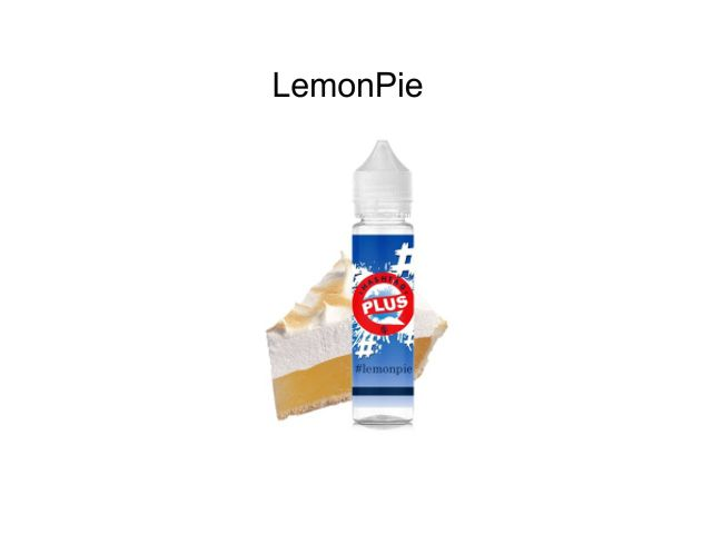 10425 - HASHTAG PLUS FLAVORSHOTS LEMONPIE Shake and Vape 20/60ML (πίτα με κρέμα λεμονιού)