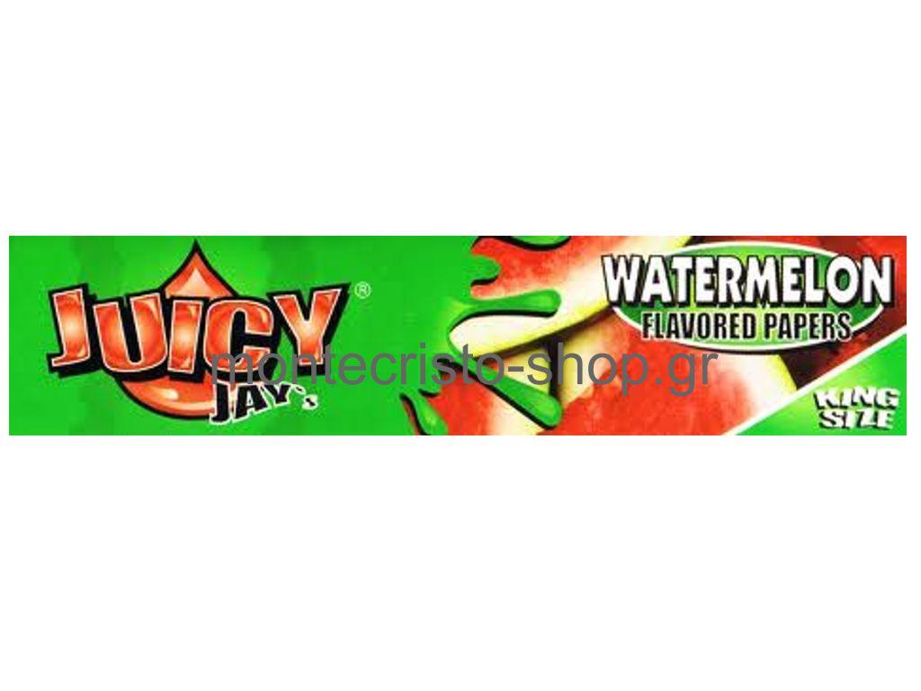 844 - Χαρτάκια στριφτού juicys jay watermelon ΚΑΡΠΟΥΖΙ KIng Size 32 φύλλα
