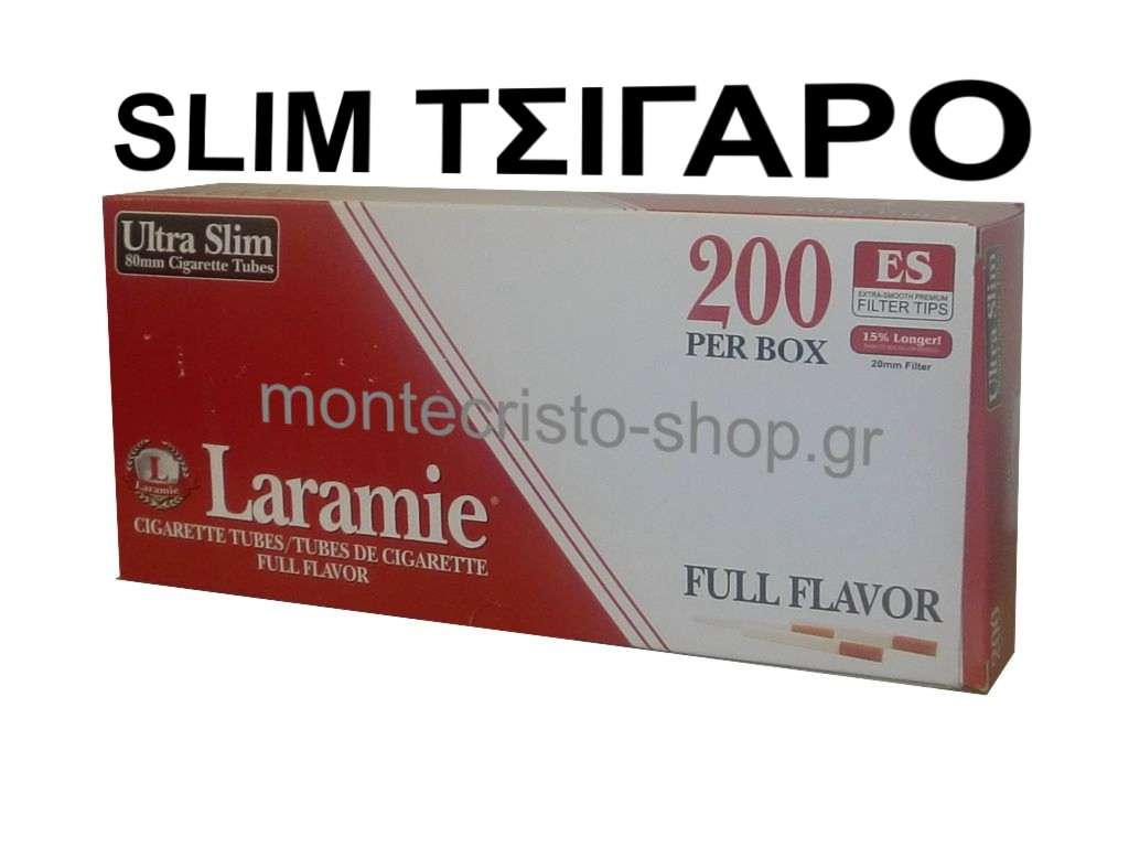 Τσιγαροσωλήνες Laramie Ultra Slim 80mm μήκος κουτί με 200 tubes