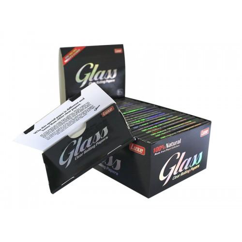 864 - Χαρτάκια 1 και 1/4 Glass Clear Paper κουτί 24τεμ Διάφανο
