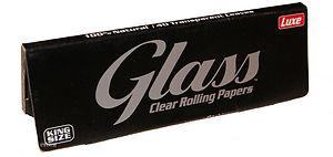 867 - Χαρτάκια Glass Clear King Size Διάφανο