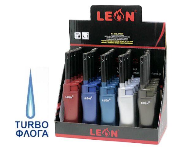 10450 - Αναπτήρας Μακρύς Αντιανεμικός LEON CANDLE LIGHTER (13.5cm) 170409 κουτί των 25