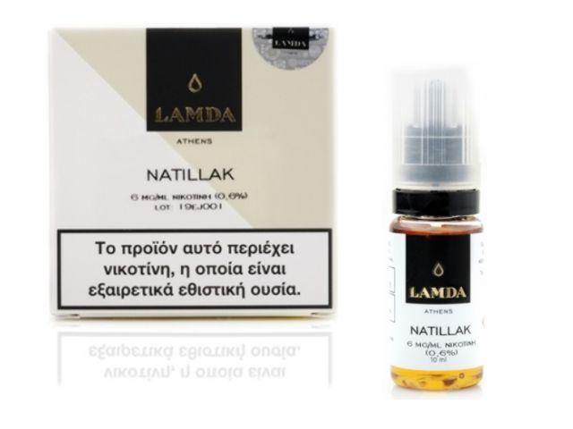 10458 - Υγρό αναπλήρωσης LAMDA NATILLAK 3*10ml (καπνικό με κρέμα, μπισκότο και ξηρούς καρπούς)