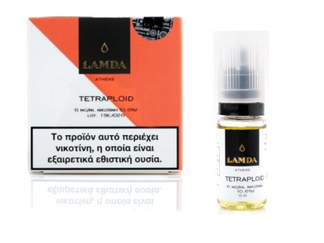 Υγρό αναπλήρωσης LAMDA TETRAPLOID 3*10ml (καρπούζι, φράουλα, πορτοκάλι, λάιμ)