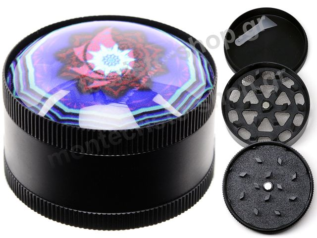 Τρίφτης καπνού Atomic Metal Grinder Psychedelic 50mm 0212470NT A (3 parts)