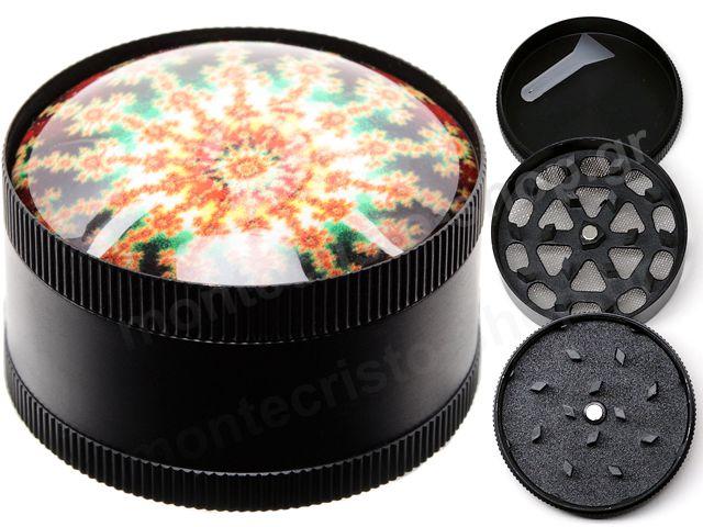 10526 - Τρίφτης καπνού Atomic Metal Grinder Psychedelic 50mm 0212470NT C (3 parts)
