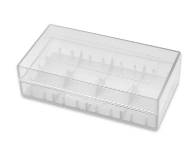 Διάφανη πλαστική θήκη για 2 μπαταρίες 18650