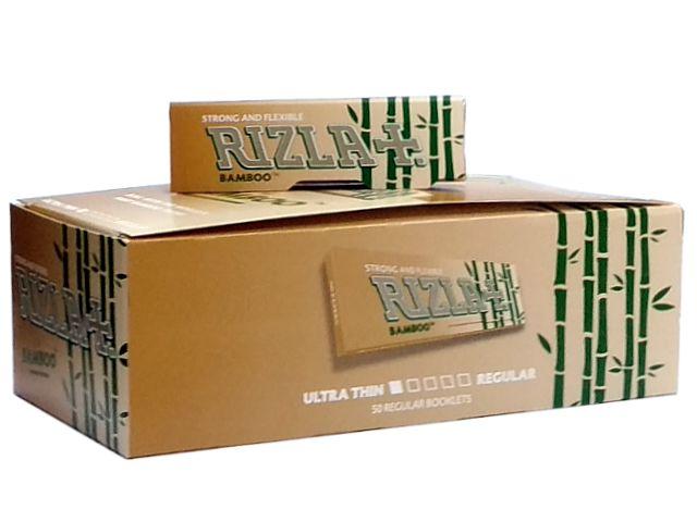 Χαρτάκια RIZLA BAMBOO 50 ULTRA THIN (κουτί των 50) ακατέργαστα