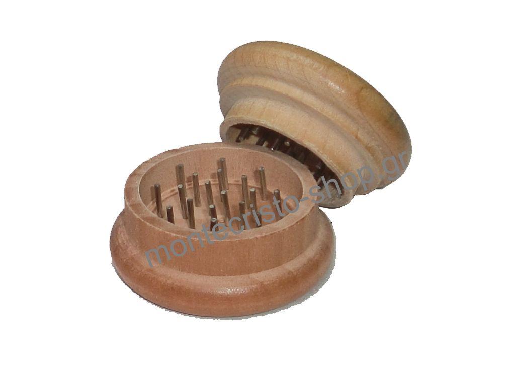 Τρίφτης Καπνού ξύλινος απλός GR02 50mm