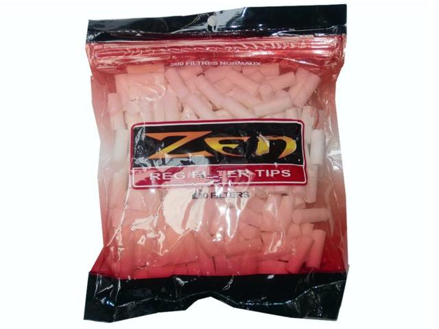 1127 - Φιλτράκια ZEN EXTRA LONG regular 7,5mm μακρυά, σακουλάκι με 200 φιλτράκια