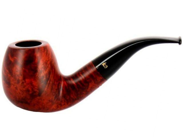 10554 - Stanwell Silkebrun 185 Brown πίπα καπνού κυρτή 9mm