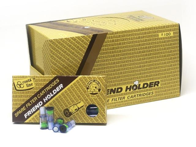 Κουτί με 24 ανταλλακτικά φιλτράκια για πίπα τσιγάρου Friend Holder