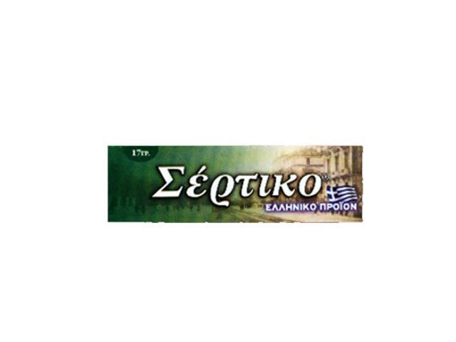 Ελληνικό τσιγαρόχαρτο Σέρτικο πράσινο, μεσαίο πάχος φύλλα 50