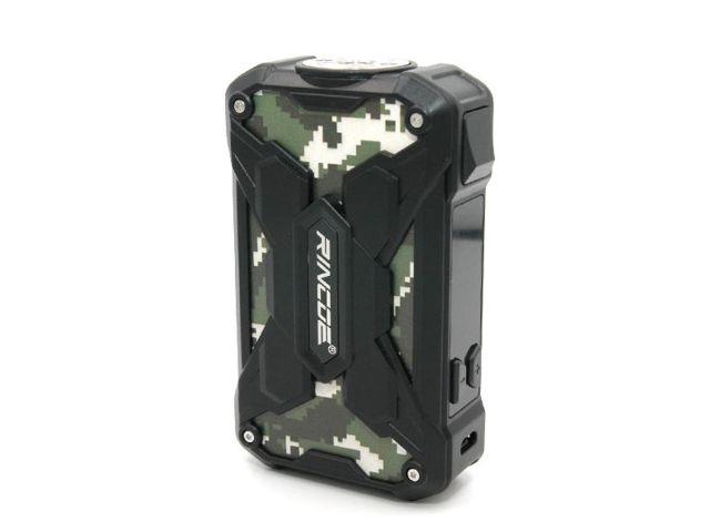 10594 - Mechman Box CAMO BLACK 228W Steel Wings (2*18650) by Rincoe
