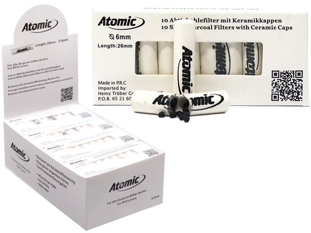 10607 - Atomic Filter 6mm Ενεργού άνθρακα 10 (κουτί των 20) 0163500