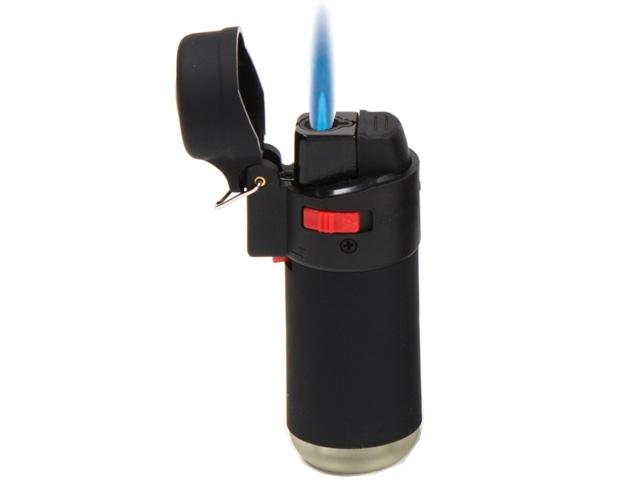 Αναπτήρας φλόγιστρο μαύρος CONEY CR Jet Lighter βαρελάκι (με κρίκο)