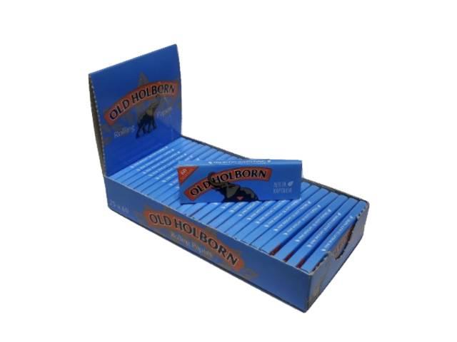 Κουτί με 25 χαρτάκια Old Holborn fine weight blue