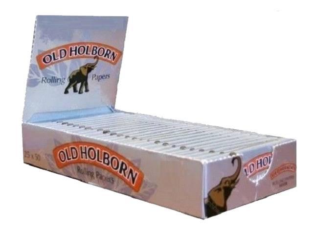 Κουτί με 25 χαρτάκια Old Holborn extra fine silver ασημί