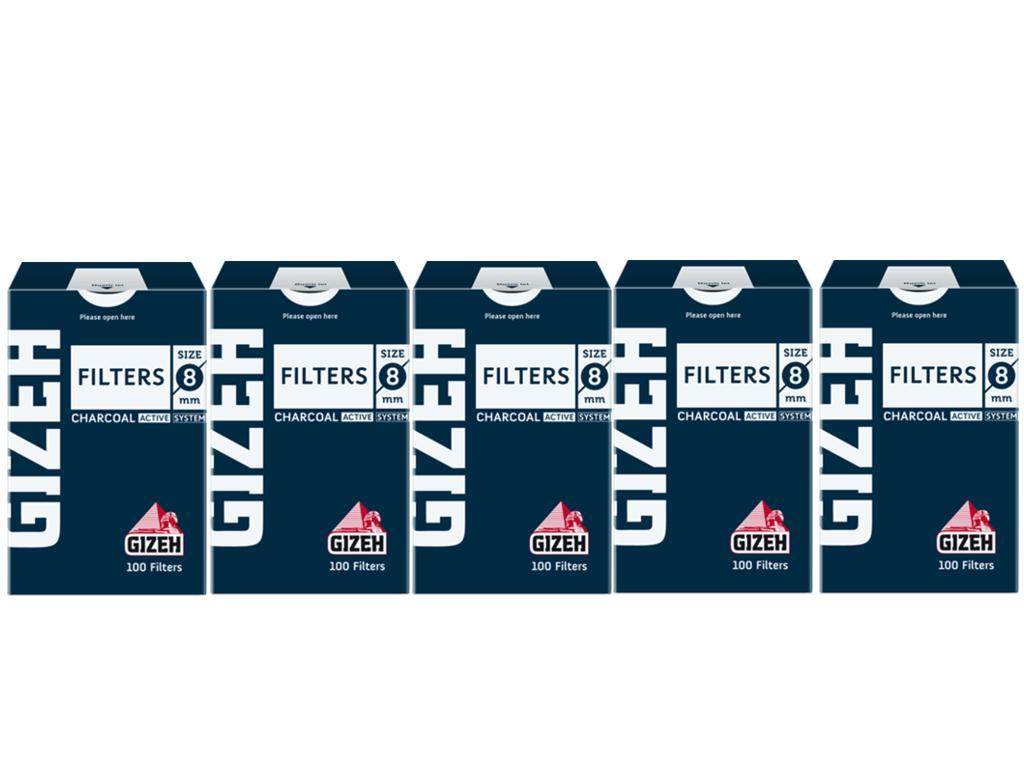 Κουτί με 10 φιλτράκια GIZEH ενεργού άνθρακα 8mm GIF009