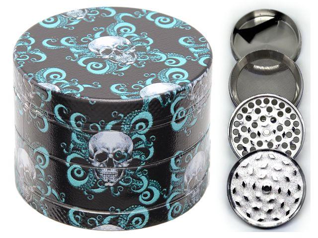 Τρίφτης καπνού Atomic Metal Grinder 50mm Skull (4 parts) 0212520 E