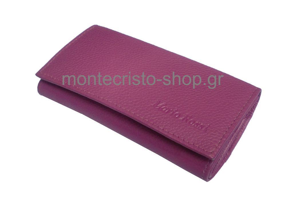 Καπνοθήκη από γνήσιο δέρμα MARIO ROSSI 324-02 PK φουξ-ροζ μικρή δερμάτινη