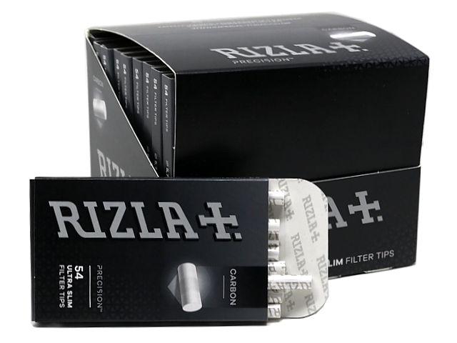 10761 - Φιλτράκια ενεργού άνθρακα Rizla carbon Precision 54 Ultra Slim 5.7mm (κουτί των 20)