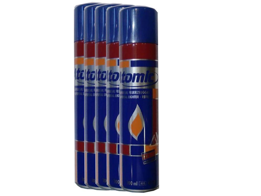 1501 - Σετ με 5 αέρια Αναπτήρων ATOMIC 300ml 1,39 το αέριο