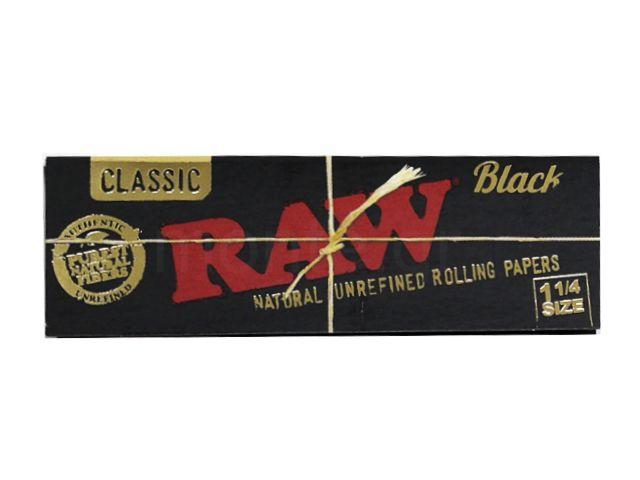 Χαρτάκια RAW BLACK 1&1/4 CLASSIC 50 χαρτάκια
