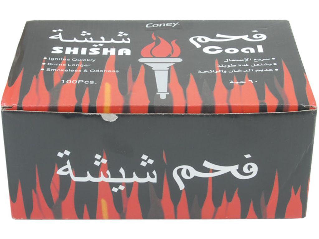 1586 - Κουτί με 10 συσκευασίες καρβουνάκια για ναργιλέ Coney Sisha Coal 33mm