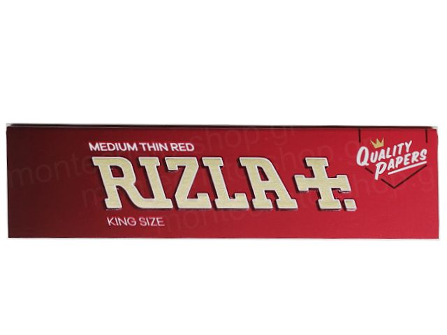 Χαρτάκια RIZLA KING SIZE SLIM MEDIUM THIN RED ΚΟΚΚΙΝΟ