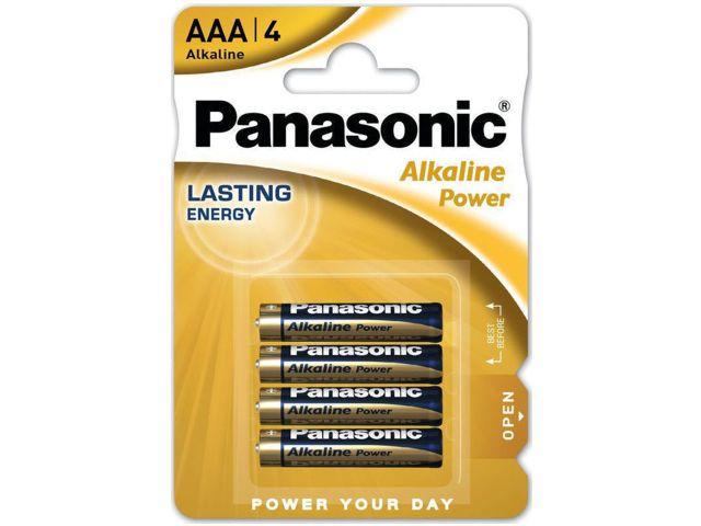 PANASONIC AAA ΑΛΚΑΛΙΚΕΣ LR03 1.5V AM4 MN2400 (4 ΜΠΑΤΑΡΙΕΣ)