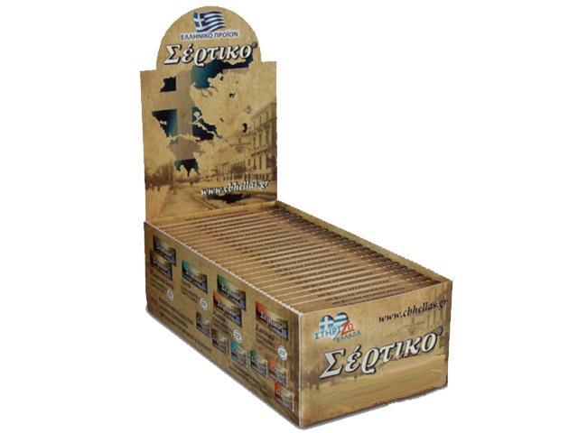 Κουτί με 50 χαρτάκια Σέρτικο αλεύκαντο λεπτό unbleched