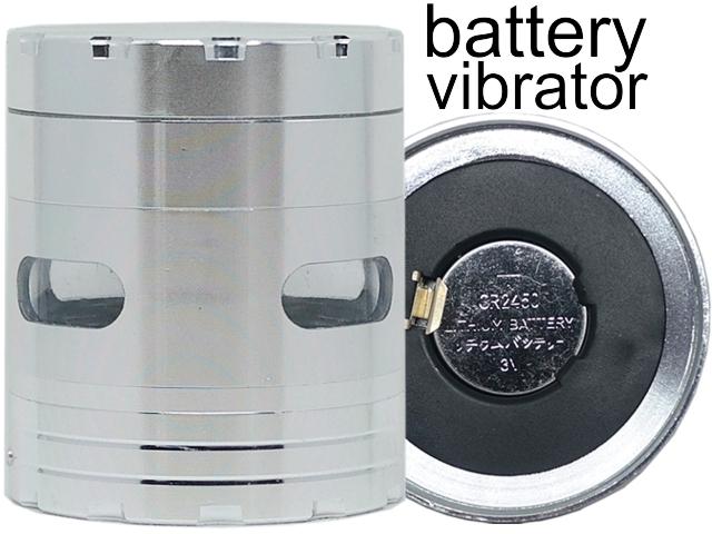 Τρίφτης καπνού CONEY Vibra Grinder Ø63 Silver με δόνηση μεταλλικός (4 parts) 0212381