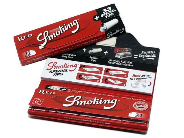 Χαρτάκια Smoking RED King Size με Τζιβάνες 99-016331 (κανονικό πάχος)