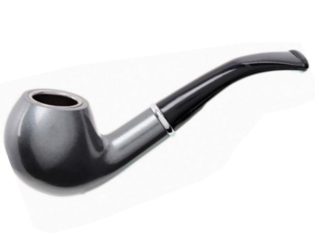 10851 - Πίπα καπνού ATOMIC Metallic Rubber Ασημί 0212792 (μεταλλική rubber επικάλυψη)
