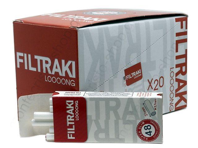 10857 - FILTRAKI LONG 48 SUPER SLIM 5.7mm μακρύ φίλτρο σε μπάρες (κουτί των 20)