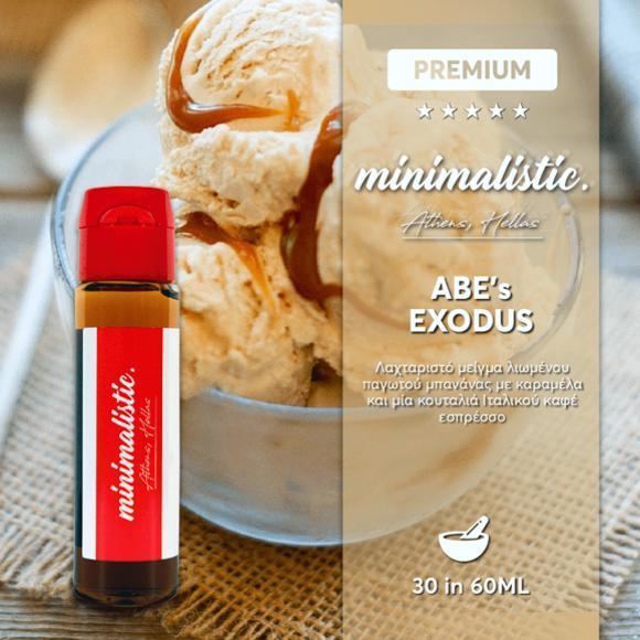 MINIMALISTIC ABES EXODUS Shake And Vape 30/60ml (ΠΑΓΩΤΟ ΜΠΑΝΑΝΑ ΜΕ ΚΑΡΑΜΕΛΑ ΚΑΙ ΕΣΠΡΕΣΣΟ)