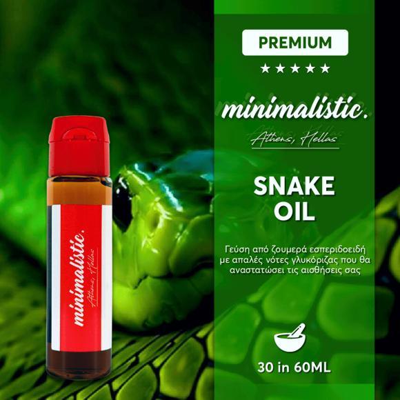MINIMALISTIC SNAKE OIL Shake And Vape 30/60ml (ΕΣΠΕΡΙΔΟΕΙΔΗ ΜΕ ΓΛΥΚΟΡΙΖΑ)