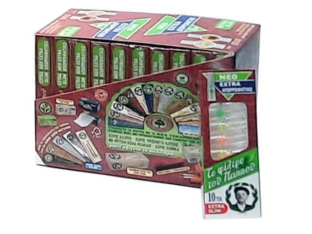 Κουτί με 20 πιπάκια του παππού extra slim 5,7mm 42902-080 πίπα τσιγάρου
